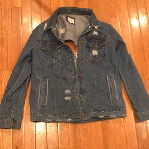 Jean jacket distressed